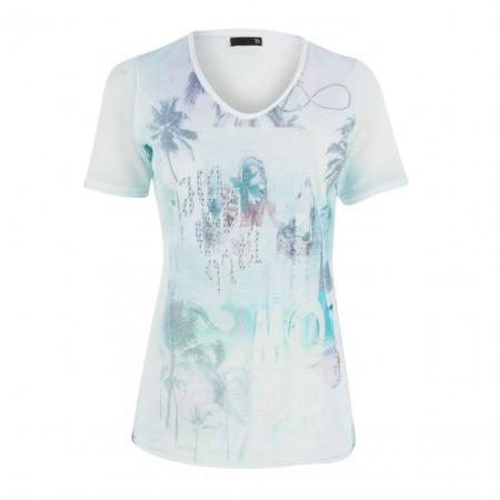 SALE % | Boss Casual | T-Shirt - Rergular Fit - Mesh-Optik | Blau online im Shop bei meinfischer.de kaufen