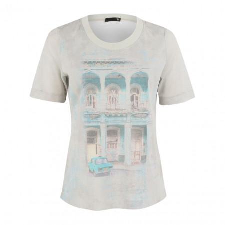 SALE % | Boss Casual | T-Shirt - Regular Fit - Mesh-Optik | Grau online im Shop bei meinfischer.de kaufen