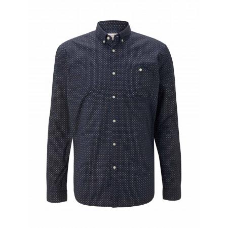SALE % | Tom Tailor Men Casual | Freizeithemd - Regular Fit - Button Down | Blau online im Shop bei meinfischer.de kaufen