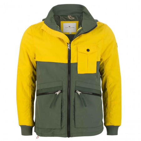 SALE % | Tom Tailor Men Casual | Jacke - Regular Fit - Colourblocking | Gelb online im Shop bei meinfischer.de kaufen