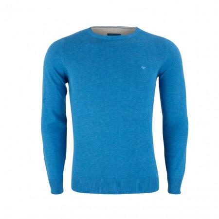 SALE %   Boss Casual   Pullover - Slim Fit - Crewneck   Blau online im Shop bei meinfischer.de kaufen