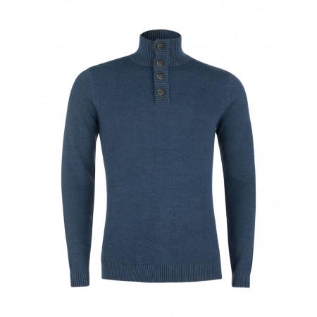 SALE % | Tom Tailor Men Casual | Sportlicher Rolli | Blau online im Shop bei meinfischer.de kaufen