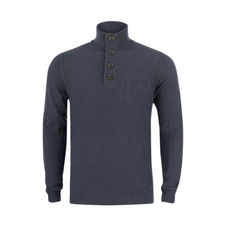SALE % | Tom Tailor Men Casual | Pullover - Regular Fit - Stehkragen | Blau online im Shop bei meinfischer.de kaufen