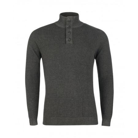 SALE % | Tom Tailor Men Casual | Sportlicher Rolli | Grau online im Shop bei meinfischer.de kaufen