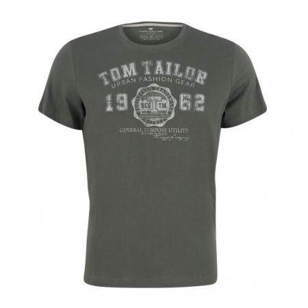 SALE % | Tom Tailor Men Casual | T-Shirt platzierter Druck 1/2 | Grau online im Shop bei meinfischer.de kaufen