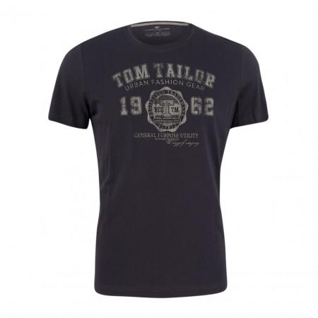 SALE % | Tom Tailor Men Casual | T-Shirt platzierter Druck 1/2 | Blau online im Shop bei meinfischer.de kaufen
