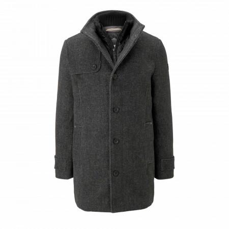 SALE % | Tom Tailor Men Casual | Mantel - Regular Fit - Woll-Mix | Grau online im Shop bei meinfischer.de kaufen