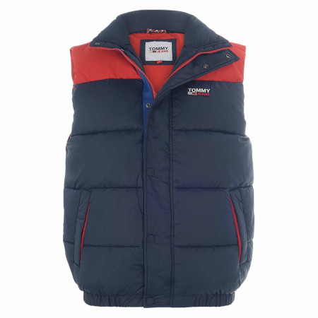 SALE % | Tommy Jeans | Steppweste - Comfort Fit - Zip | Blau online im Shop bei meinfischer.de kaufen