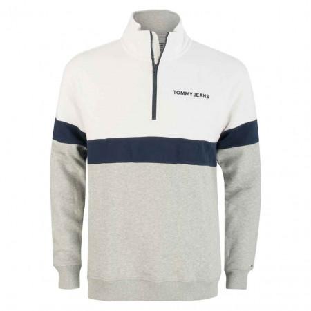 SALE % | Tommy Jeans | Sweater - Regular Fit - Zipper | Grau online im Shop bei meinfischer.de kaufen