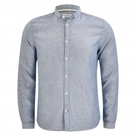 SALE % | Tom Tailor Men Casual | Freizeithemd - Slim Fit - Stehkragen | Blau online im Shop bei meinfischer.de kaufen