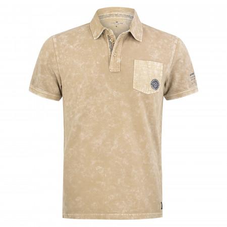 SALE % | Tom Tailor Men Casual | Poloshirt - Regular Fit - Cold dye-Optik | Beige online im Shop bei meinfischer.de kaufen