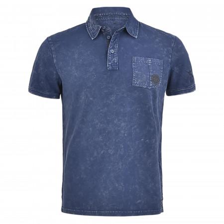 SALE % | Tom Tailor Men Casual | Poloshirt - Regular Fit - Cold dye-Optik | Blau online im Shop bei meinfischer.de kaufen