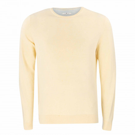 SALE %   Tom Tailor Men Casual   Pullover - Regular Fit - Crewneck   Gelb online im Shop bei meinfischer.de kaufen