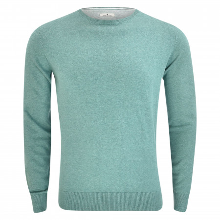 SALE % | Tom Tailor Men Casual | Pullover - Regular Fit - Crewneck | Grün online im Shop bei meinfischer.de kaufen