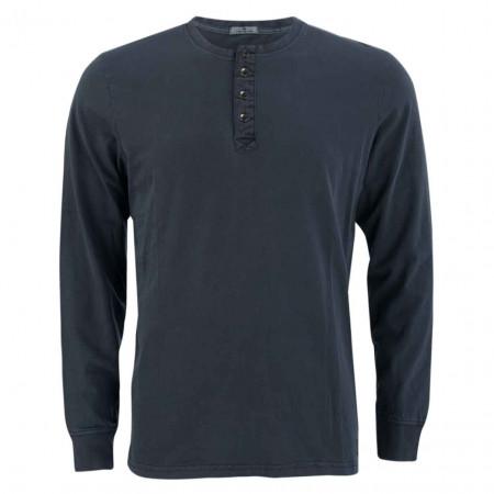 SALE %   Tom Tailor Men Casual   Henleyshirt - Regular Fit - unifarben   Blau online im Shop bei meinfischer.de kaufen