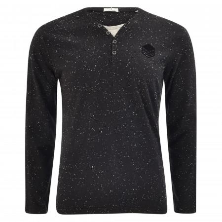 SALE % | Tom Tailor Men Casual | Shirt - Regular Fit - Henley | Schwarz online im Shop bei meinfischer.de kaufen
