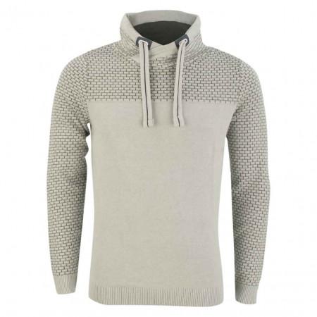 SALE % | Tom Tailor Men Casual | Sweater - Regular Fit - Schalkragen | Grau online im Shop bei meinfischer.de kaufen