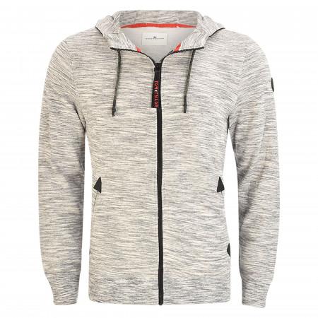 SALE % | Tom Tailor Men Casual | Sweatjacke - Regular Fit - Kapuze | Grau online im Shop bei meinfischer.de kaufen