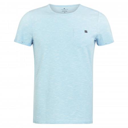SALE % | Tom Tailor Men Casual | T-Shirt - Regular Fit - Crewneck | Blau online im Shop bei meinfischer.de kaufen