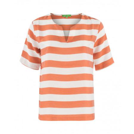 SALE % | U Fischer | Bluse-Stripes | Orange online im Shop bei meinfischer.de kaufen