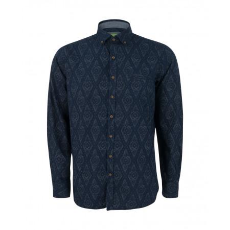 SALE % | Boss Casual | Casualhemd mit Muster | Blau online im Shop bei meinfischer.de kaufen