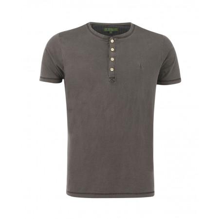 SALE % | Boss Casual | Kurzarm-Henleyshirt | Grau online im Shop bei meinfischer.de kaufen