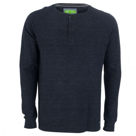 SALE % | U Fischer | Henleyshirt - Regular Fit - meliert | Blau online im Shop bei meinfischer.de kaufen