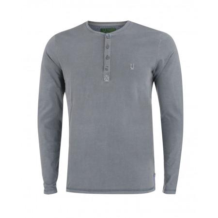 SALE % | U Fischer | Henleyshirt | Grau online im Shop bei meinfischer.de kaufen