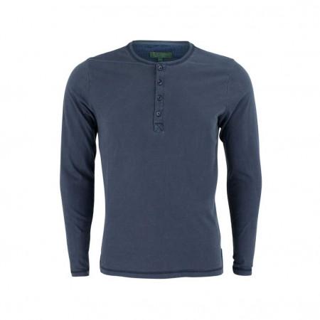 SALE % | Boss Casual | Henleyshirt - Slim Fit - unifarben | Blau online im Shop bei meinfischer.de kaufen