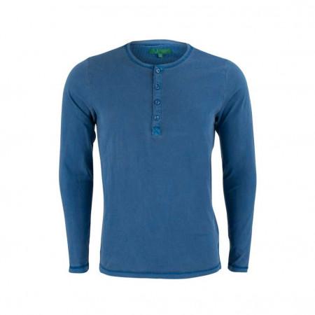 SALE % | U Fischer | Henleyshirt - Slim Fit - unifarben | Blau online im Shop bei meinfischer.de kaufen