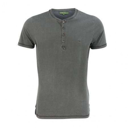 SALE % | U Fischer | Henleyshirt - Regular Fit - Crewneck | Grau online im Shop bei meinfischer.de kaufen