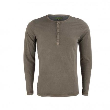 SALE % | U Fischer | Henleyshirt - Slim Fit - unifarben | Grau online im Shop bei meinfischer.de kaufen