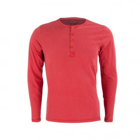 SALE % | Boss Casual | Henleyshirt - Slim Fit - unifarben | Rot online im Shop bei meinfischer.de kaufen