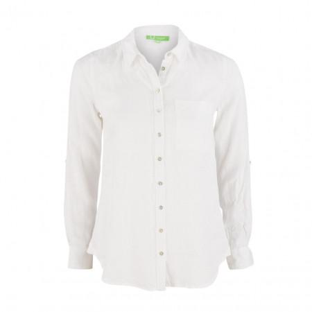 SALE % | Boss Casual | Leinenbluse - Regular Fit - Brusttasche | Weiß online im Shop bei meinfischer.de kaufen