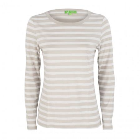 SALE % | Boss Casual | Longsleeve - Regular Fit - Stripes | Beige online im Shop bei meinfischer.de kaufen