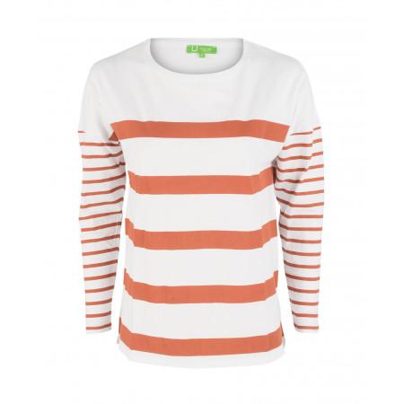 SALE % | U Fischer | Longsleeve - Regular Fit - Stripes | Orange online im Shop bei meinfischer.de kaufen