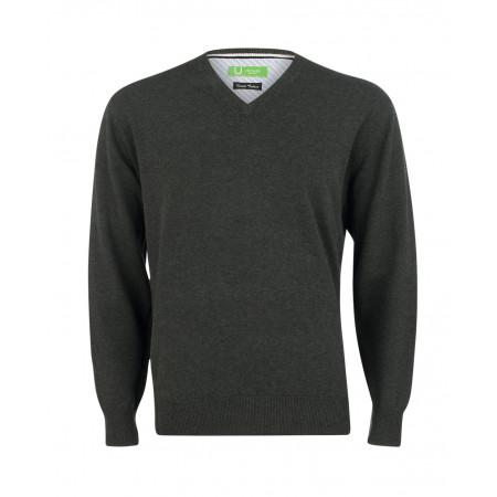 SALE % | U Fischer | Pullover V-Ausschnitt | Grau online im Shop bei meinfischer.de kaufen