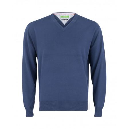 SALE % | U Fischer | Pullover V-Ausschnitt | Blau online im Shop bei meinfischer.de kaufen