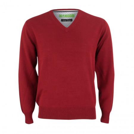 SALE % | Boss Casual | Pullover - Regular Fit - V-Neck | Rot online im Shop bei meinfischer.de kaufen