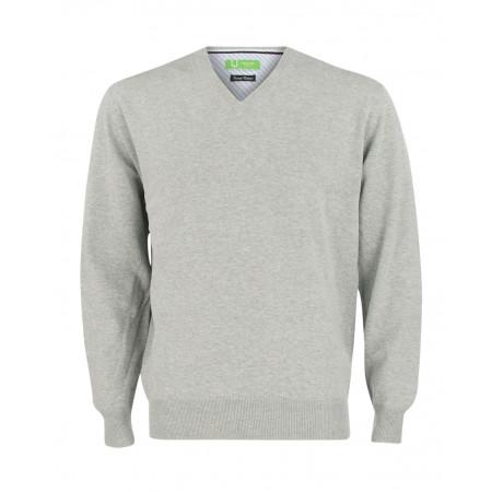 SALE % | Boss Casual | Pullover V-Ausschnitt | Grau online im Shop bei meinfischer.de kaufen