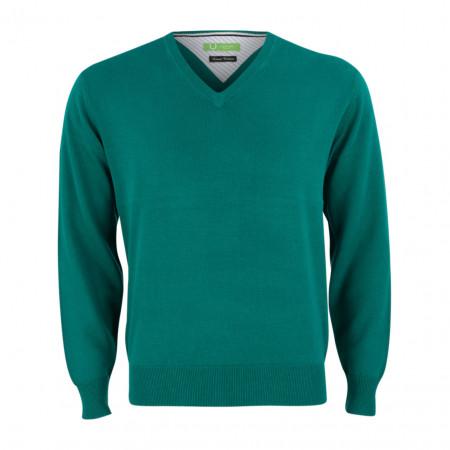 SALE % | Boss Casual | Pullover - Regular Fit - V-Neck | Grün online im Shop bei meinfischer.de kaufen
