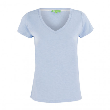 SALE % | Boss Casual | T-Shirt - Regular Fit - V-Neck | Blau online im Shop bei meinfischer.de kaufen