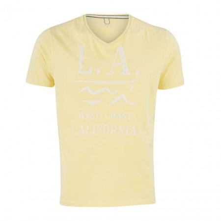 SALE % | Boss Casual | T-Shirt - Regular Fit - V-Neck | Gelb online im Shop bei meinfischer.de kaufen