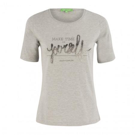 SALE % | Boss Casual | T-Shirt - Regular Fit - Nietenprint | Grau online im Shop bei meinfischer.de kaufen