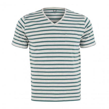 SALE % | Boss Casual | T-Shirt - Regular Fit  - Stripes | Grün online im Shop bei meinfischer.de kaufen