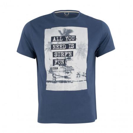 SALE % | Boss Casual | T-Shirt - Regular Fit - Print | Blau online im Shop bei meinfischer.de kaufen