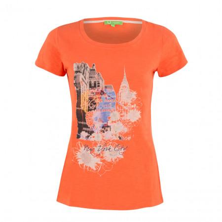 SALE % | Boss Casual | T-Shirt -fitted - Print | Orange online im Shop bei meinfischer.de kaufen