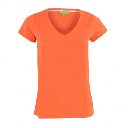 SALE % | Boss Casual | T-Shirt - Regular Fit - V-Neck | Orange online im Shop bei meinfischer.de kaufen