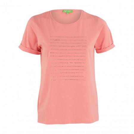 SALE % | Boss Casual | T-Shirt - Regular Fit - Strassprint | Rosa online im Shop bei meinfischer.de kaufen