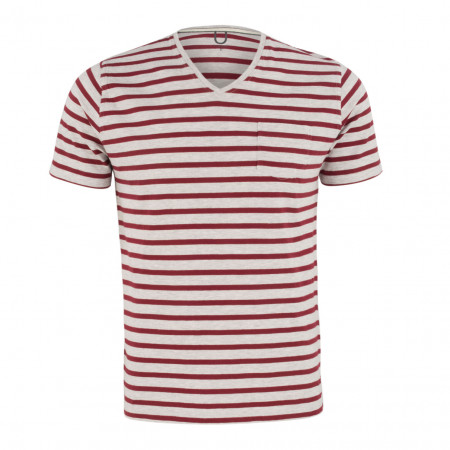 SALE % | Boss Casual | T-Shirt - Regular Fit  - Stripes | Rot online im Shop bei meinfischer.de kaufen